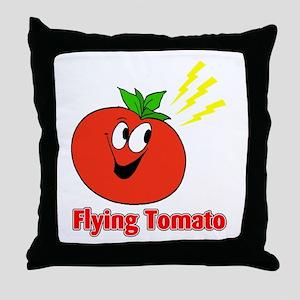 The Flying Tomato Throw Pillow