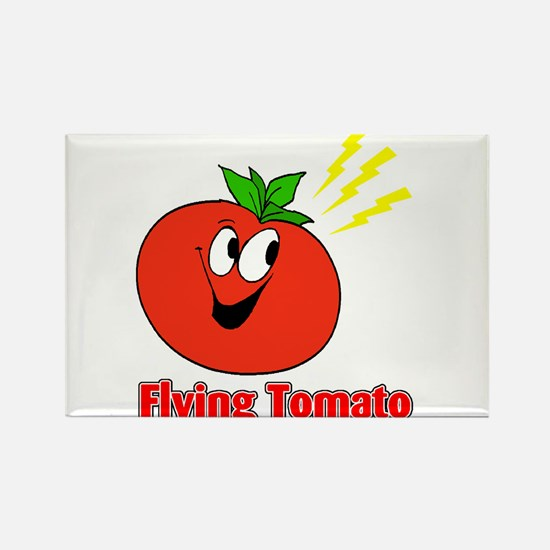 The Flying Tomato Rectangle Magnet
