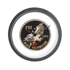 FBI Bomb Technician Wall Clock