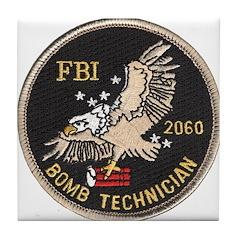 FBI Bomb Technician Tile Coaster