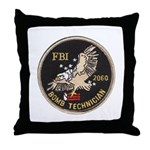 FBI Bomb Technician Throw Pillow