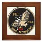 FBI Bomb Technician Framed Tile