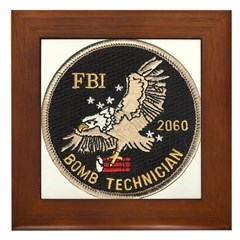 FBI Bomb Technician Framed Tile