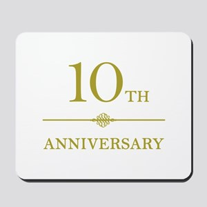 Stylish 10th Anniversary Mousepad