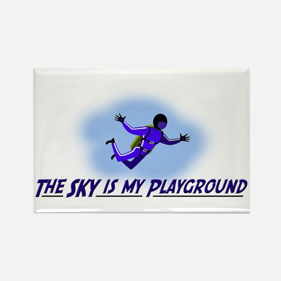 The Sky is My Playground Rectangle Magnet