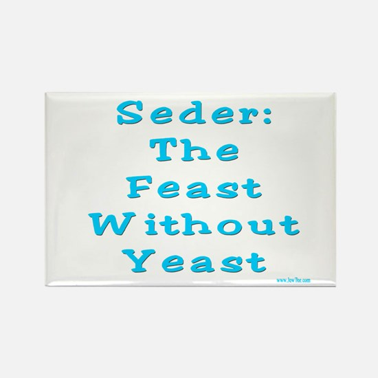 Feast No Yeast Passover Rectangle Magnet