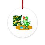Happy St. Patricks Day Ornament (Round)