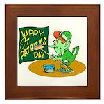 Happy St. Patricks Day Framed Tile