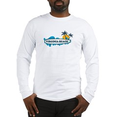 Virginia Beach - Surf Design Long Sleeve T-Shirt