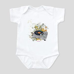 DJ Turntable 3 Infant Bodysuit