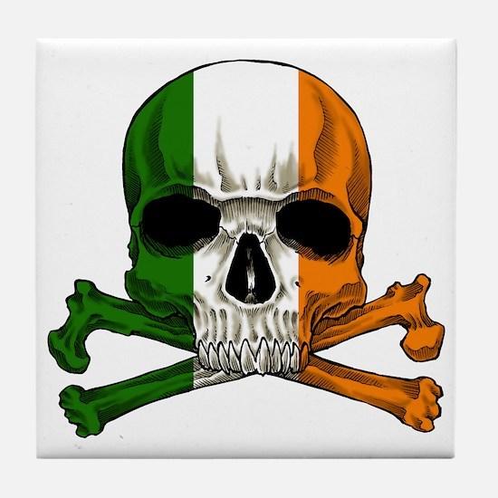 Irish Skull n' Crossbones Tile Coaster