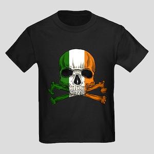 Irish Skull n' Crossbones Kids Dark T-Shirt
