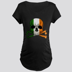 Irish Skull n' Crossbones Maternity Dark T-Shirt