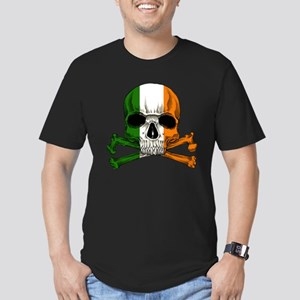 Irish Skull n' Crossbones Men's Fitted T-Shirt (da