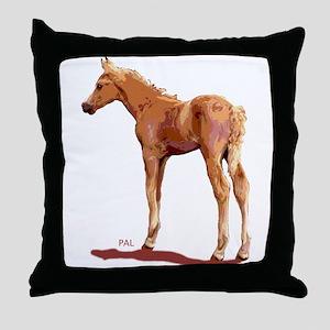 Morgan Palomino Colt Throw Pillow