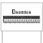 Techno Drummer Yard Sign