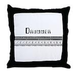 Techno Drummer Throw Pillow