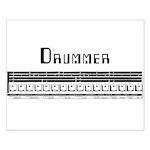 Techno Drummer Small Poster