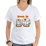 Tabla Beat It Women's V-Neck T-Shirt