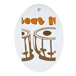 Tabla Beat It Ornament (Oval)