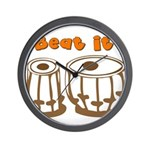 Tabla Beat It Wall Clock