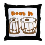 Tabla Beat It Throw Pillow