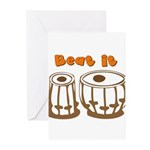 Tabla Beat It Greeting Cards (Pk of 10)