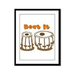 Tabla Beat It Framed Panel Print