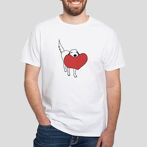 Luke's Heart White T-Shirt