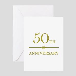 Stylish 50th Anniversary Greeting Card