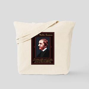 Emerson -Purpose of Life Tote Bag