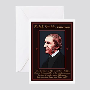 Emerson -Purpose of Life Greeting Cards (Pk of 10)