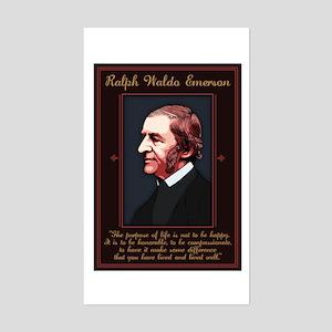 Emerson -Purpose of Life Sticker (Rectangle)