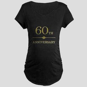 Stylish 60th Anniversary Maternity Dark T-Shirt