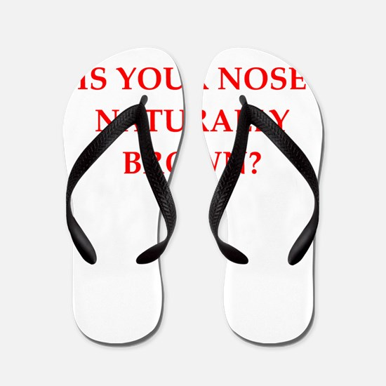 brown nose Flip Flops