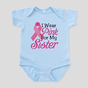 Pink For Sister Infant Bodysuit