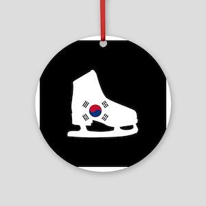 South Korea Skate Ornament (Round)