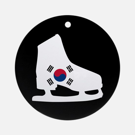 South Korea Skate Ornament (Round)