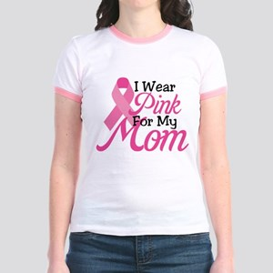 Pink For Mom Jr. Ringer T-Shirt