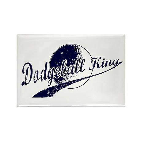Dodgeball King Rectangle Magnet (10 pack)