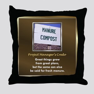Project Managers Throw Pillow