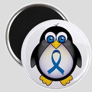 Penguin Blue Ribbon Awareness Magnet