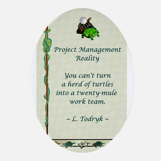 Project Managers Ornament (Oval)