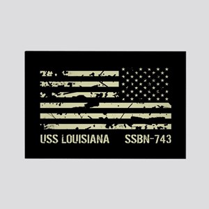 USS Louisiana Rectangle Magnet