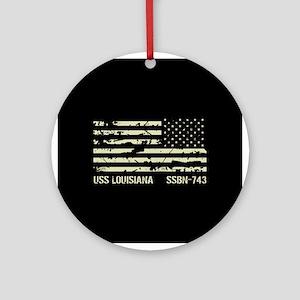 USS Louisiana Round Ornament