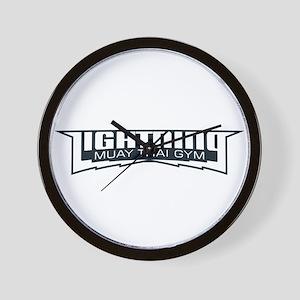 Lightning Muay Thai Gym Wall Clock