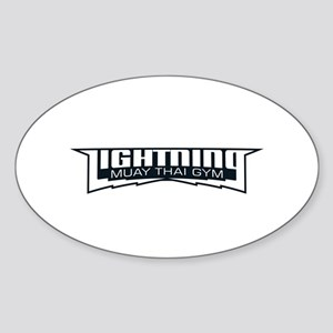 Lightning Muay Thai Gym Sticker (Oval)