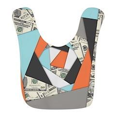 Layered Money Polyester Baby Bib
