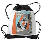 Layered Money Drawstring Bag