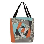Layered Money Polyester Tote Bag